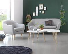 Sofabord LEJRE 60x120cm hvid/eg | JYSK