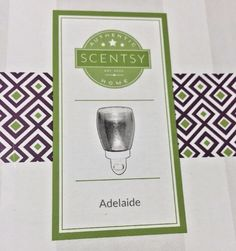 Scentsy Adelaide Plug In Nightlight Warmer New in Box to use with wax fragrance #Scentsy