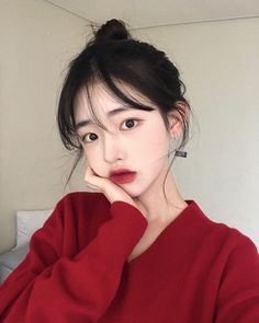 Fashion asian girly makeup 54 Ideas for 2019 Ulzzang Girl Selca, Ulzzang Korean Girl, Cute Korean Girl, Asian Girl, Ulzzang Couple, Korean Beauty, Asian Beauty, Girls Tumblrs, Korean Face