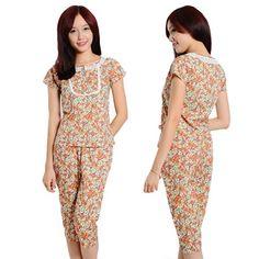 Bộ đồ mặc nhà thời trang SGC hoa nhí nhommua