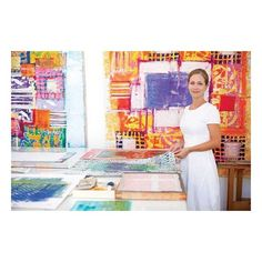 """Palestinian-Jordanian artist, Ghada Dahdaleh, in her Amman home studio.."