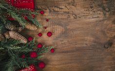 Indir duvar kağıdı Yeni Yıl, Noel, Yeni Yıl ağacı, 2018, kırmızı Noel topları, süsleri