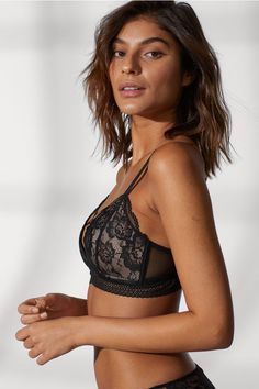 2f3c622836d33 Soft-cup Lace Bra - Black - Ladies
