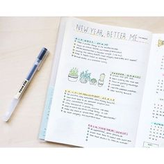 On to the new year! I wanted to make a list of things I want to accomplish this year! Resolutions never lasted more than a month for me, but considering it as a list of goals makes it more realistic! Happy New Year to everyone! | #bulletjournal #bujo #bulletjournaling #bulletjournaljunkies #bulletjournallove #planner #planneraddict #plannergeek #plannernerd #muji #mildliner #resolutions #goals #succulents #doodle