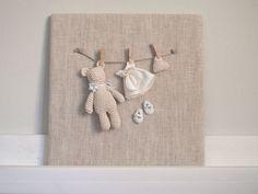 Nursery frame. Nursery decor. Baby gift. Baby shower. Crochet Little bear frame…