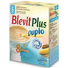 BLEVIT Plus Duplo Papilla 8 Cereales y Yogur 600g.