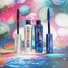 Get out of this world lashes by layering they're real! beyond blue mascara over they're real! tinted lash primer! Who else would love to try this cosmic combo? ;)