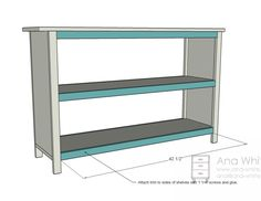 Ana White | Build a Grace's Bookshelves - Plans for Two | Free and Easy DIY Project and Furniture Plans