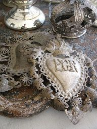 ...monogram paper?lace? Heart
