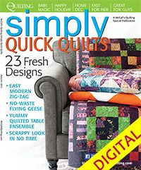 McCall's Quilting Simply Quick Quilts Digital Issue from QuiltandSewShop.com