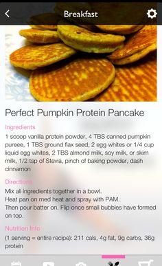 Pumpkin Protein Pancake *Blogilates*