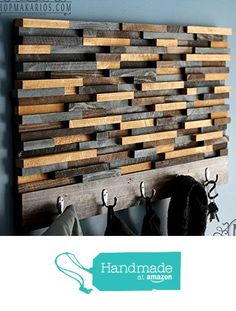 Hand Made wall coat rack, entry way shelf, coat rack from Makarios Decor