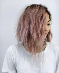dusty rose pink hair color // (@bescene)