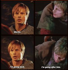 Merlin and Arthur: 4x13 and 5x02 Parallels (gif pair)