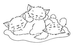 COLOUR IT, SEW IT, TRACE IT, ETC. Sliekje digistamp- catnapping. Check out all of her cool free stamps!
