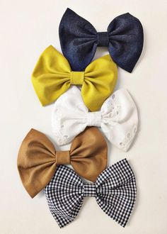 Baby Bow headbands {set of 5} available on clips or nylon headbands. Sizes newborn to 10 years!