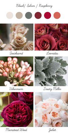 Winter palette ... Blush / Silver / Raspberry