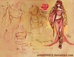 Outfit Sketch- Aphrodite by zeldacw.deviantart.com on @deviantART