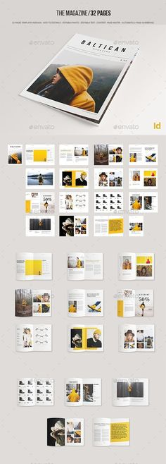 Brochure Template InDesign INDD - 32 Pages - Graphic Templates Search Engine Web Design, Visual Design, Design Social, Portfolio Layout, Portfolio Design, Editorial Design, Cover Design, Mises En Page Design Graphique, Indesign Templates