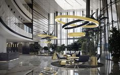 Golden Ring suspension by Panzeri. Amazing in mat black and gold leaf. Discover more @blogforlight.com