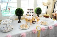 J. At Your Service: A Big Hat Bridal Shower! Derby themed dessert table