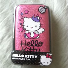 New Hello Kitty Pink Glitter DSL DSI Case Protector