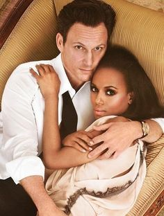 Scandal's Kerry Washington and Tony Goldwyn they need to be together in real life!!!!!!!!!