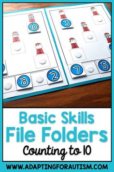 Basic Skills File Folder Activities for Special Education and Autism File Folder Activities, File Folder Games, Sorting Activities, File Folders, Life Skills Classroom, Preschool Special Education, Preschool Printables, Learning Disabilities, Work Stations