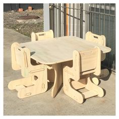 Designer kids wooden table and chair set - best for ages up to 5yrs