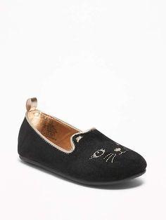 cbb8b7d7476 Old Navy Black Velvet Cat Ballet Flats For Toddler Girls   Baby