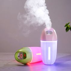 Colorful Lights Aromatherapy Humidifier Mini Usb Air Humidifier Ortable Ultrasonic Mist Micron Fogging Aroma Essential Diffuser Air Conditioning Appliance Parts Humidifier Parts