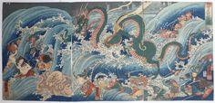 Utagawa Kuniyoshi monsters 18th Century woodcuts Japan Japanese myth legend ghosts