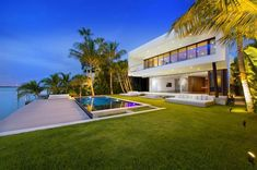 Miami Beach, Florida is area is known for its incredible modern architecture lining the ocean, offering both water and city skyline views from many of the homes.