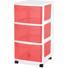 Sterilite 3-Drawer Medium Carts, Set of 2