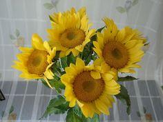 6 Sonnenblumen 80cm Kunstblume künstliche Blumen Dekoration Blüten Sonnenblume