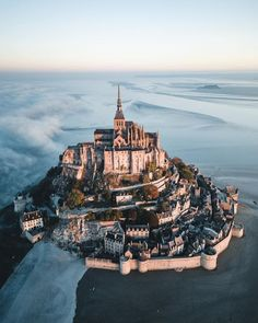 The tiny island of Mont Saint-Michel in Normandy, France, with its circumference. - The tiny island of Mont Saint-Michel in Normandy, France, with its circumference… – - Travel Photography Tumblr, Photography Beach, France Photography, Mont Saint Michel France, Mont Sant Michel, Places To Travel, Places To See, Travel Destinations, France Destinations