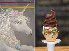Unicorns, Golden Girls, rainbows, and hella good ice cream. The Big Gay lads know their way around a dip cone. Go for a Bea Arthur (vanilla with crushed Nilla wafers) and cococone with toasted, curried coconut. If you'd prefer to try to top their classics, coat your cream with wasabi pea dust, pumpkin butter, elderflower syrup, or olive oil and sea salt.Big Gay Ice Cream, 125 East Seventh Street, New York City