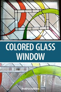 dcolemans created this beautiful stained glass window using some leftover pieces of colored glass. #Instsructables #home #decor #beveled Tiny House Design, Stained Glass Windows, Glass Panels, Colored Glass, Diy Furniture, Home Improvement, Clever, Projects To Try, Knitting
