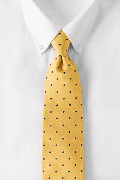 Men's Silk Churchill Dot Necktie from Lands' End $49