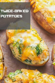 Crispy broccoli and cheddar twice-baked potatoes are comfort food at its best. Click through for the recipe and step-by-step photos. comfort food Broccoli and Cheddar Twice-Baked Potatoes Fall Dinner Recipes, Fall Recipes, Amazing Recipes Dinner, Christmas Dinner Ideas Family, Summer Recipes, Easter Dinner Menu Ideas, Recipes For One, Light Dinner Ideas, Traditional Christmas Dinner