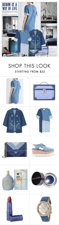 """""""Denim Is A Way Of Life"""" by kittyfantastica ❤ liked on Polyvore featuring M.i.h Jeans, Steve J & Yoni P, STELLA McCARTNEY, Diesel, Bobbi Brown Cosmetics, Lipstick Queen and Betsey Johnson"""