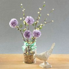 What a fun idea, plus it lasts a long time. Spring Pom-Pom Flower Decoration