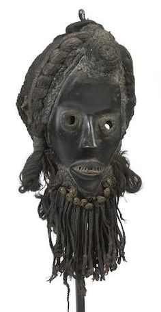A Dan mask, zakpei ge or gunye ge, Ivory Coast African Masks, African Art, Expos Paris, African Museum, High Forehead, Cradle Of Civilization, Art Premier, Art Africain, Black Mask