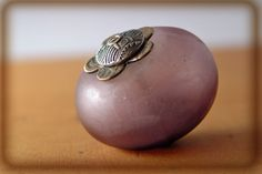 Hollow capped bead; lampwork