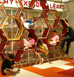 What an amazing library.  Apparently, shoeless learning is a concept.  Interesting. Learning Stations, Learning Spaces, Learning Environments, Classroom Setup, Classroom Design, Space Classroom, Classroom Setting, Classroom Organization, Classroom Cubbies