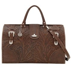American West Chestnut Brown Commemorative Collection Large Hard-Sided Doctor's Bag