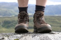 Proper-fitting boots and moisture-wicking socks can save hikers the misery of hot spots and blisters. Moisture Wicking Socks, Best Hiking Shoes, Nepal Trekking, Winter Socks, Walking Boots, Boating Outfit, Top Shoes, Combat Boots, Shoe Boots