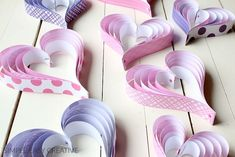 With a few simple supplies, you can learn how to make these fun paper hearts! Step-by-step photos will help with the making. Hang them for decoration or add them to gifts. Valentine's Day Crafts For Kids, Valentine Crafts For Kids, Valentines Day, Valentine Hearts, Kid Crafts, Cupcake Crafts, Paper Cupcake, Pony Party, Diy Paper