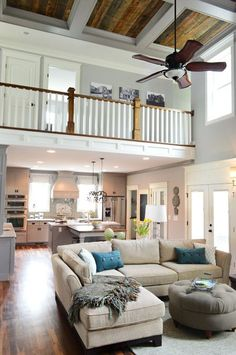 I love the walkway and how it overlooks the living area.