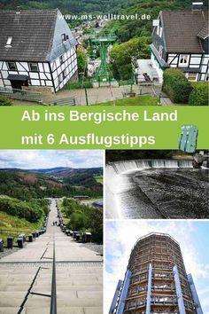 Ausflugstipps entlang der Wupper, Schlösser und blühender Natur mit einzigartigen Aussichten. #BergischesLand in #NRW Places To See, Explore, City, World, Building, Outdoor, Nature, Traveling, Tour Operator
